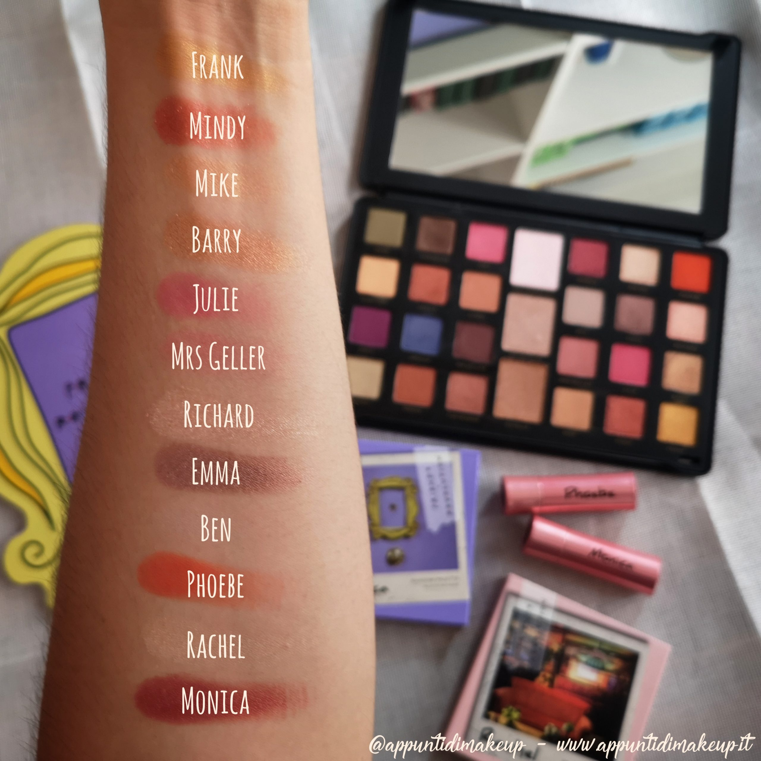Friends x Revolution beauty collection: Flawless Limitless Eyeshadow palette swatches