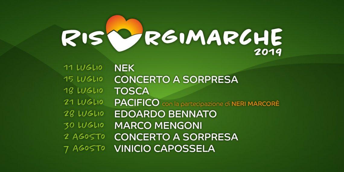 RisorgiMarche 2019: Nek a Poggio San Romualdo (Fabriano)