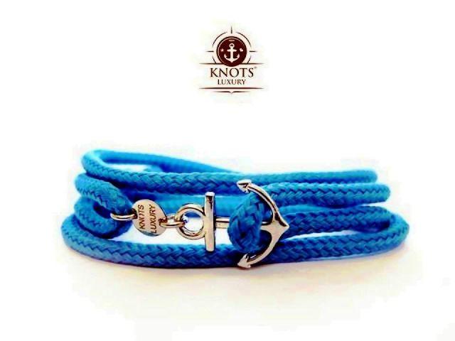 Knots Luxury, bracciali di corda intrecciata con chiusura ad ancora 3 bigiotteria