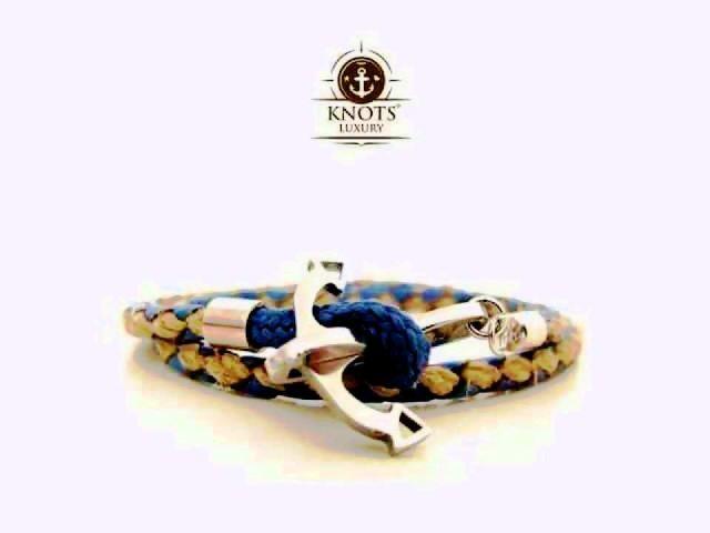 Knots Luxury, bracciali di corda intrecciata con chiusura ad ancora