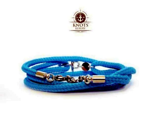 Knots Luxury, bracciali di corda intrecciata con chiusura ad ancora 1 bigiotteria