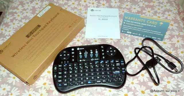 iClever® IC-RF02 Mini Tastiera QWERTY 2.4GHz multifunzione 1 articoli per la casa