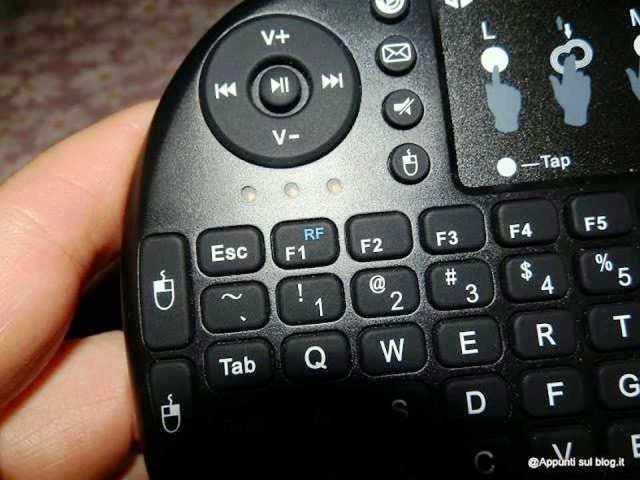 iClever® IC-RF02 Mini Tastiera QWERTY 2.4GHz multifunzione 4 articoli per la casa