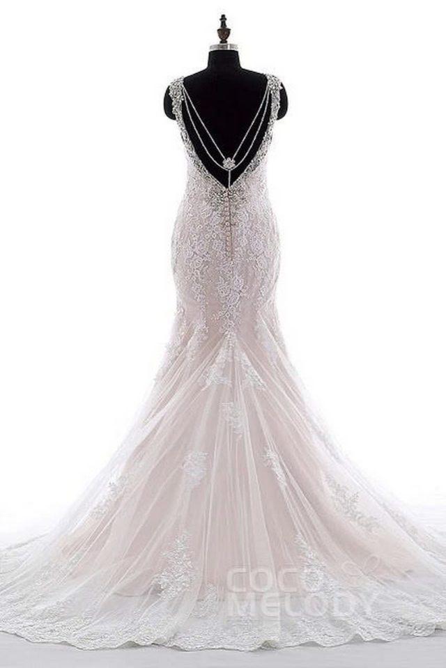 Amazing backless Wedding Dresses on Cocomelody 8 abiti da cerimonia