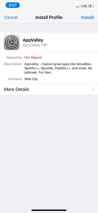 Install AppValley on iPhone/iPad