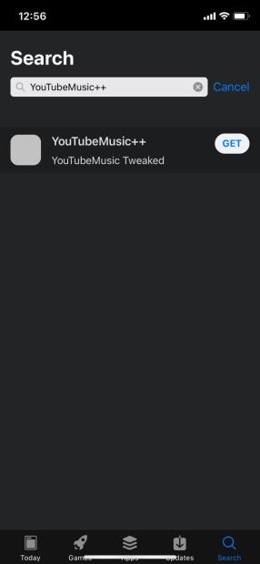 """Search 'YouTubeMusic++ App"""" in AppValley"""
