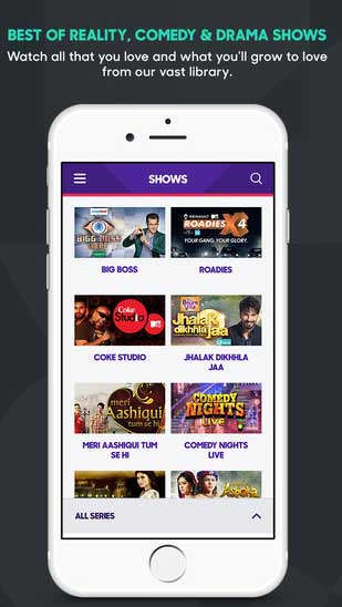 Voot app foriOS iPhone iPad