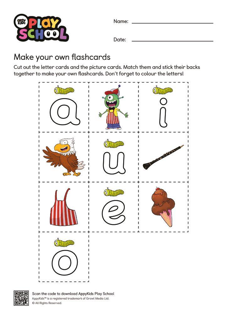 thumbnail of AppyKids Play School Long Vowel Worksheet
