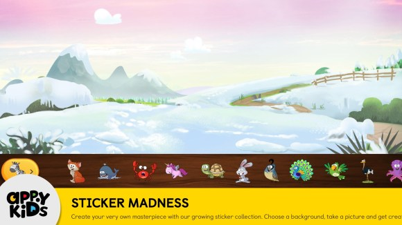 Preschool iPad app of Games for Kids StickerMadness Screenshot