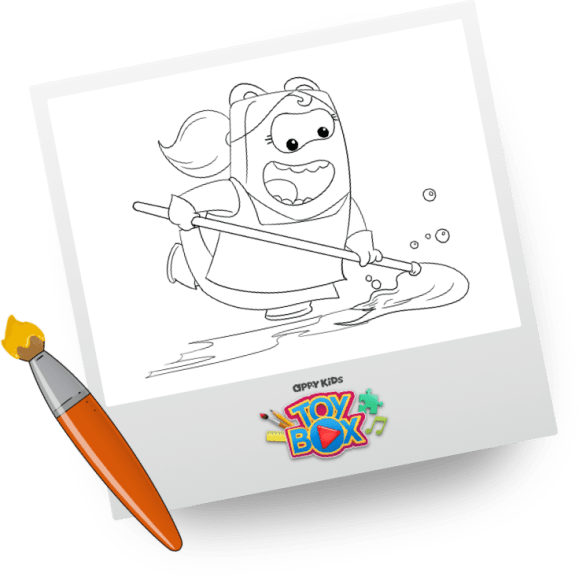 Toy Box Call Out Colouring