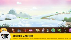 Preschool iPad app of Games for Kids Sticker Madness Screenshot