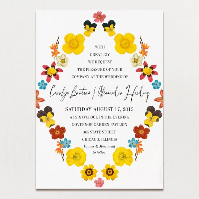 Customized Wedding Invitations Plumegiant