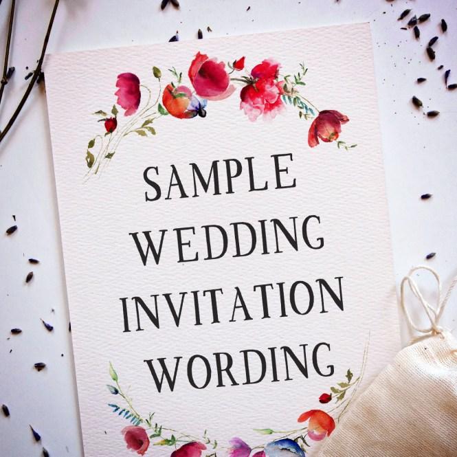 Letterpress Wedding Invitation Wording