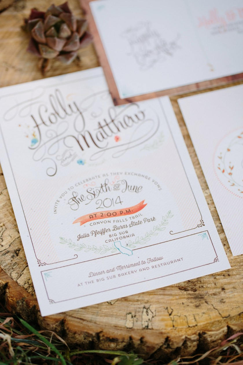 Watercolor Wedding Save The Date Design