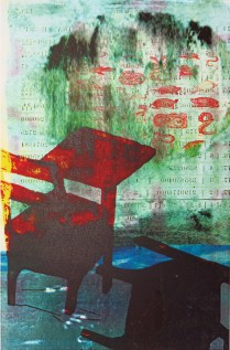 duck and cover, 2006; Photo lithograph; Image: 15 x 9 3/4 inches