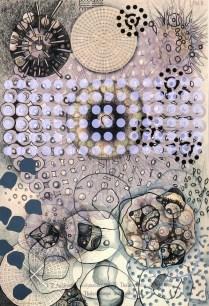 Radiolaria #1, 2007; Inkjet, screenprint, painting; Image: 20 x 13 inches