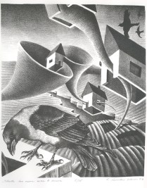 Starts too near ever to arrive, 2006; Lithograph; Image: 15 x 11 1/4 inches