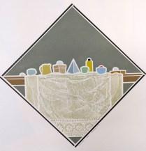 James Mullen (born 1935); Black Cap,1976; Linocut; 17 3/4 x 17 3/4 inches