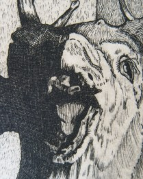 "Detail from print, ""Hunting Memories"""