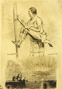 Artist Unknown (maybe Haydon); Untitled, 1883; Etching; Image: 9 x 6 in.