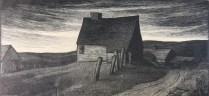 Thomas Nason (1889-1971); Lyme Farm, 1929; Wood engraving; Image: 4 1/4 x 9 inches