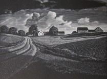 Asa Cheffetz (1896-1965); Midsummer Vermont, 1936; Wood engraving; Image: 5 x 6 1/4 inches