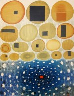 Karen Kunc (born 1952); Phase/Shift, from the Reunion portfolio, 2009; woodcut, polymer plate relief; image: 25 x 19 inches