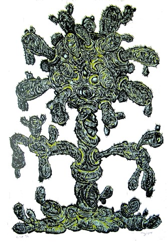 William Fick (born 1963); Yummy #3, 2004; reduction linocut; image: 42 x 30 inches; printed by Ryan Burkhart at Flying Horse Editions