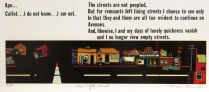 The Fifth Street, 1975; Screen print; Image: 5 1/2 x 14 inches