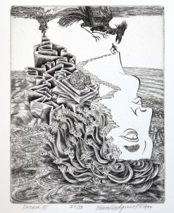 Dream III, 1994; Engraving; Image: 451 mm x 591 mm