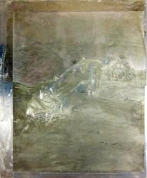 Matrix for La Canción Desesperada, 1996; Zinc plate; 370 mm x 310 mm