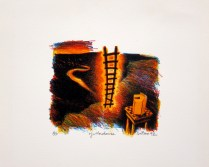 Yellowhouse, 1992; Lithograph; Image: 102 mm x 115 mm