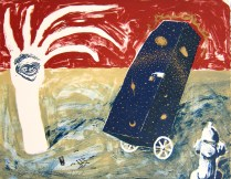 Attracting Dad, 1996; Lithograph, relief; Image: 218 mm x 280 mm