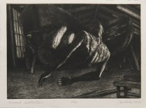 """John McKaig; Forward Construction, 2014; Etching; Paper size: 287 x 382 mm; from, """"Revival: Print Exchange"""""""