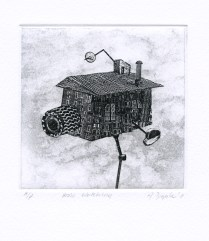 House Watching, 2011; Etching, photo etching; Object Size:253 mm 200 mm