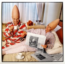 Dan Ackroyd & Jane Curtain, The Coneheads, 1993, 2015; Archival Inkjet Image size: 509 x 508