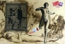 Gary Kaulitz (born 1942); Flight, 1998; Intaglio on paper; Gift of the Texas Tech University School of Art