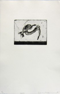 Holding, 1996; Etching; Image size: 134 x 176 mm