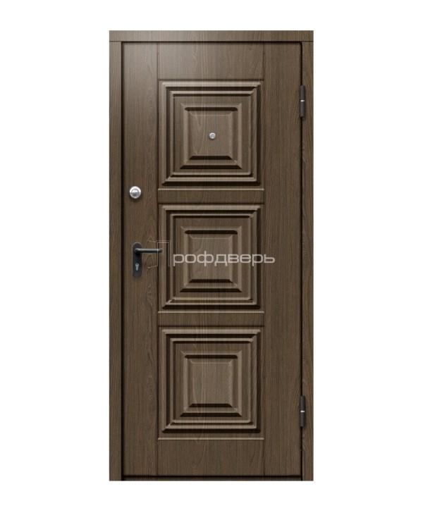 Входная стальная дверь для дома с отделкой массивом в ...