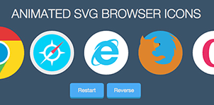 Animated SVG Browser Icons - WordPress Plugin 5