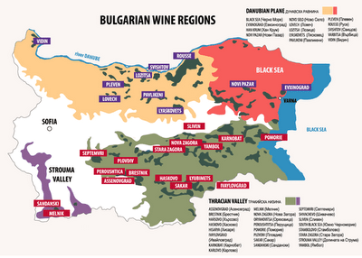 Regiones vitivinicolas de Bulgaria