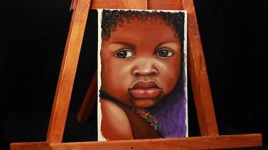 12- rostro niño al oleo
