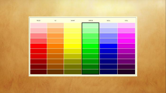 intensidad del color