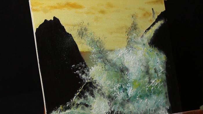 como pintar paisajes