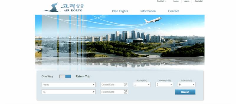 Web de viajes de Corea del Norte