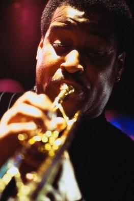 Jazz Musician Playing Trumpet