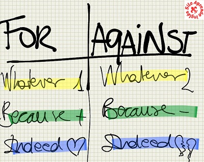 for and against essay