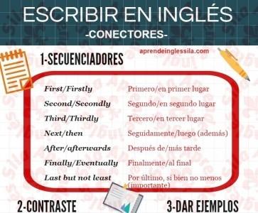 conectores en inglés