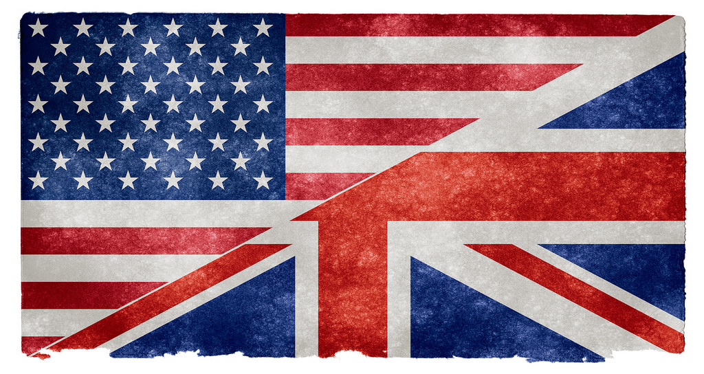 us and uk flags by nicholas raymond