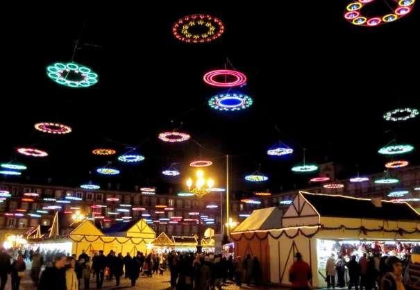 christmas lights in plaza mayor